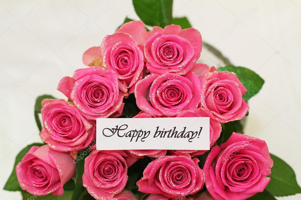 Carte anniversaire bouquets de roses