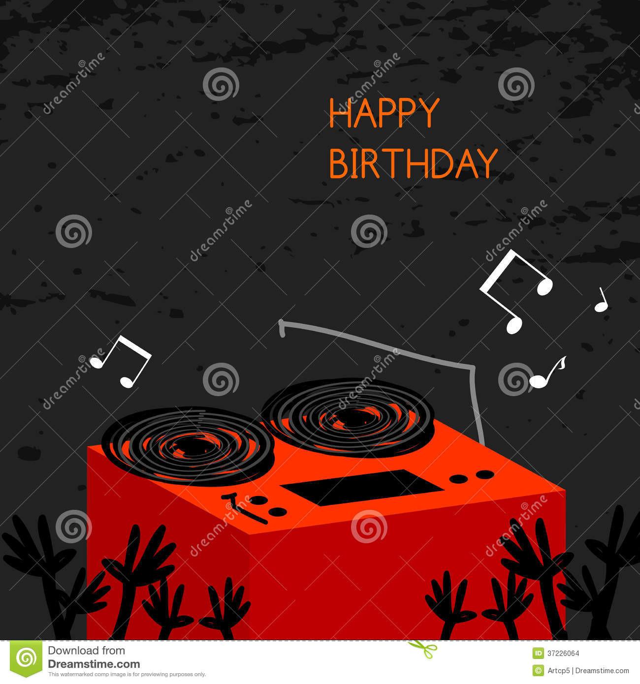 Carte anniversaire pour dj