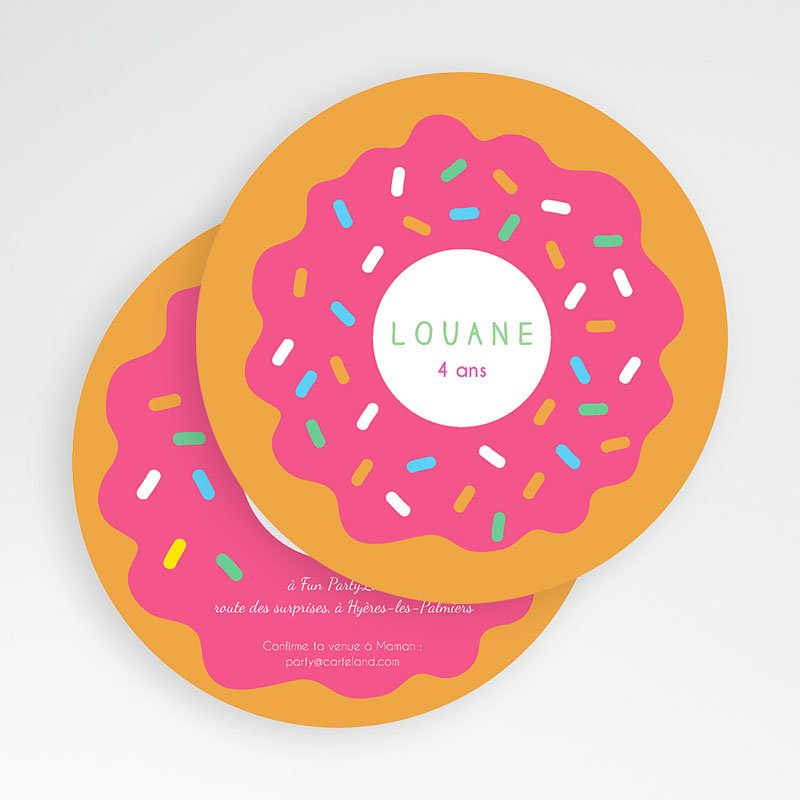Carte invitation anniversaire donuts