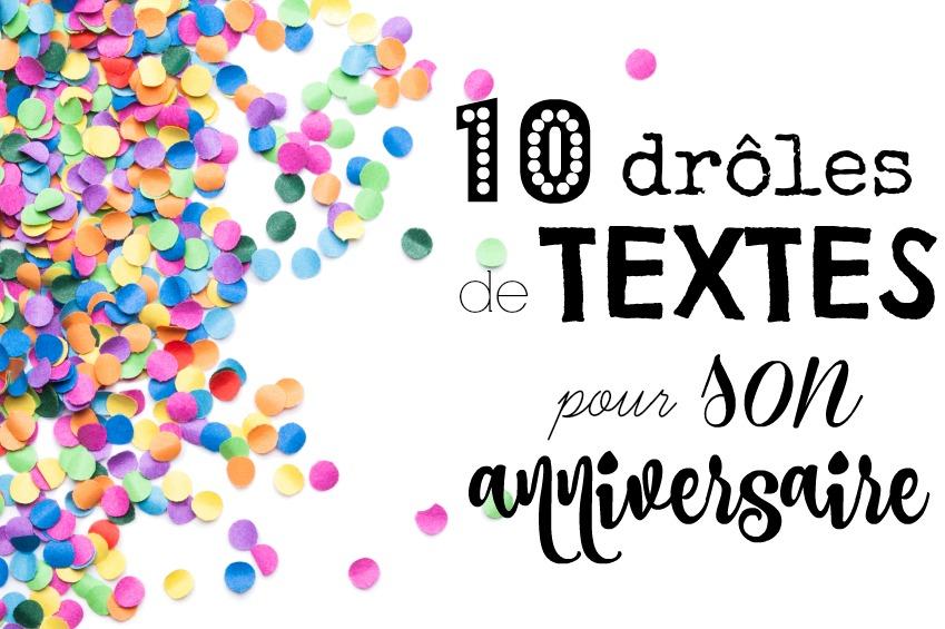 Texte humour anniversaire 50 ans