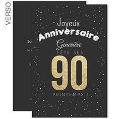 Carte anniversaire 90 ans homme