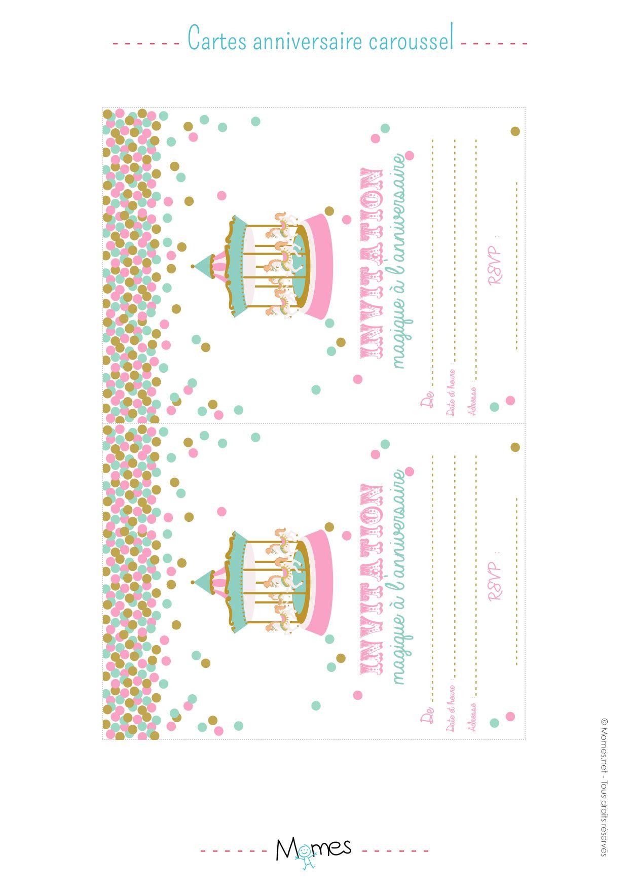 Carte d invitation anniversaire licorne a imprimer
