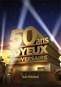 Carte anniversaire amie 50 ans