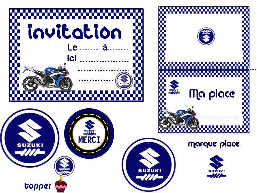 Imprimer carte anniversaire moto