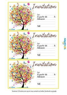 Carte d'invitation anniversaire fille 13