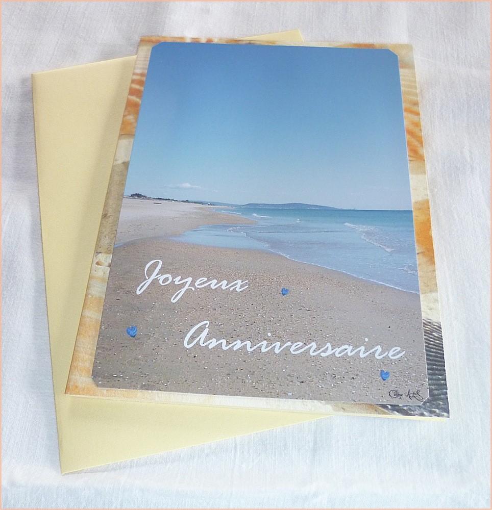 Carte anniversaire avec mer