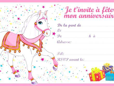 Carte Invitation Anniversaire 7 Ans Fille Gratuite Elevagequalitetouraine