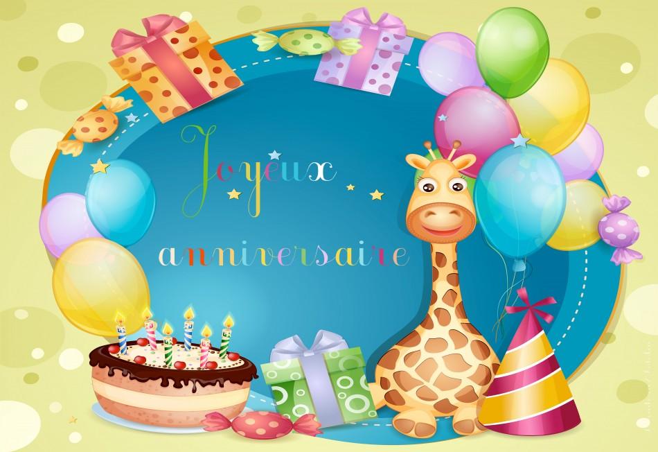Carte de voeux anniversaire enfant