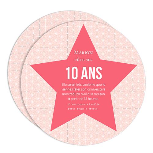 Carte anniversaire 10 ans pour fille