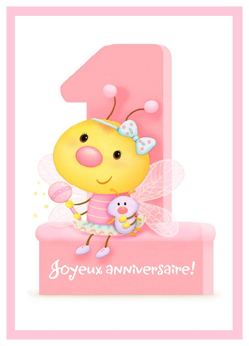 Carte Anniversaire Bebe 1 An Elevagequalitetouraine