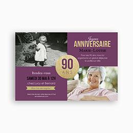 Carte anniversaire 90 ans maman