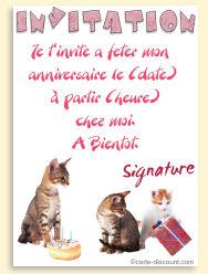 Carte anniversaire 7 ans chat