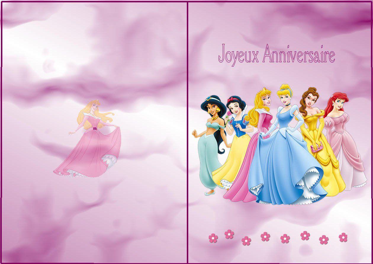 Carte joyeux anniversaire fille