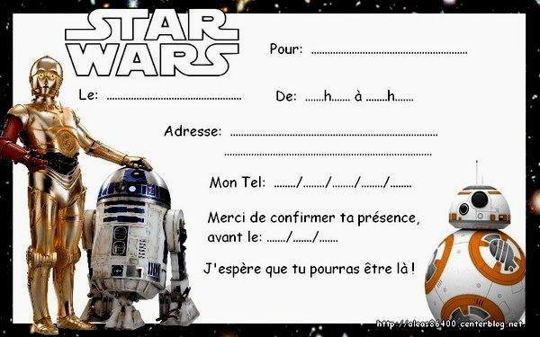 Carte Anniversaire Star War Elevagequalitetouraine