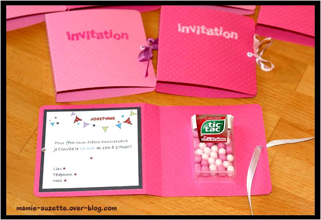 Faire sa carte d invitation anniversaire