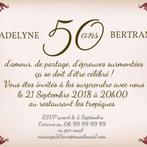 Texte faire part pour anniversaire 50 ans