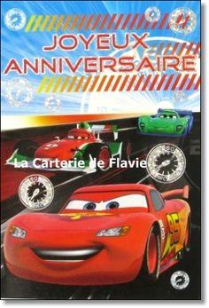 Carte anniversaire gratuite cars
