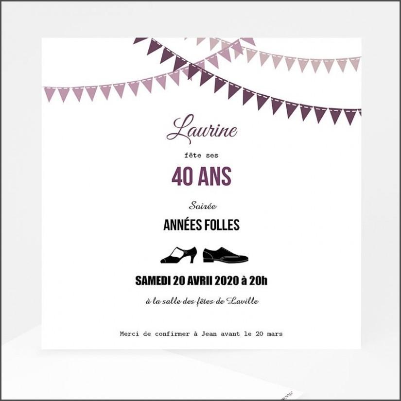 Texte anniversaire invitation