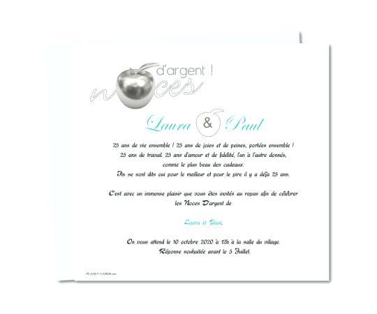 Carte d invitation anniversaire 25 ans