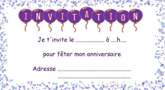 Carte Invitation Anniversaire Imprimer Gratuite Fille Elevagequalitetouraine