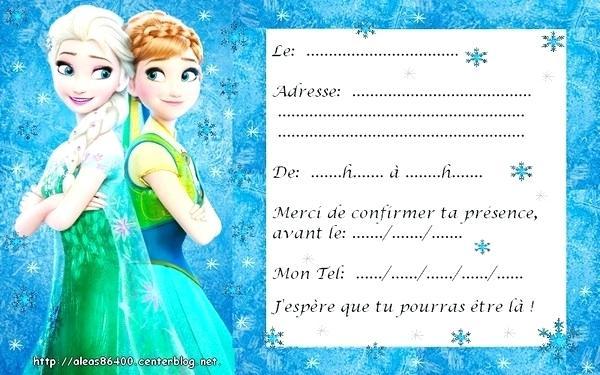 Carte D Invitation Anniversaire La Reine Des Neiges Gratuit Elevagequalitetouraine