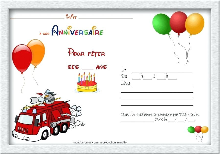Carte invitation anniversaire gratuite tracteur