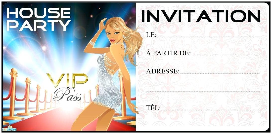 Carte d'invitation anniversaire ado garcon