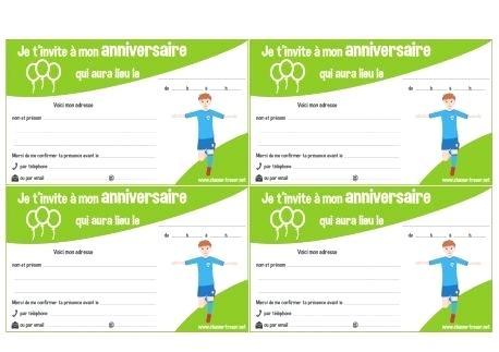 Carte invitation foot anniversaire à imprimer