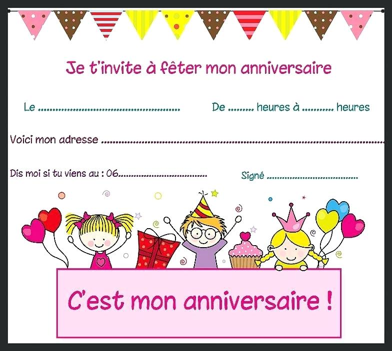 Modele Carte D Invitation Anniversaire Enfant Elevagequalitetouraine