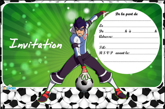 Carte Anniversaire A Imprimer Football Elevagequalitetouraine