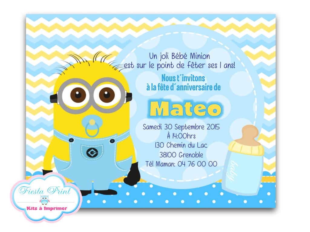 Texte invitation anniversaire pour bebe 1 an