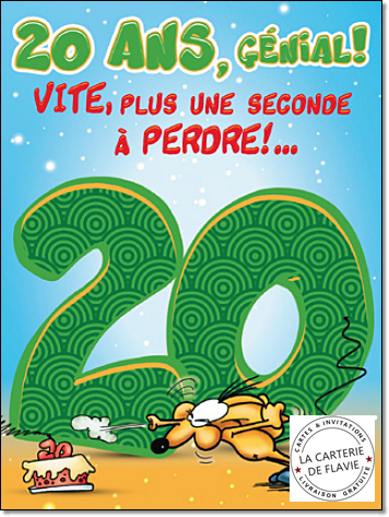 Carte anniversaire pour garcon 20 ans