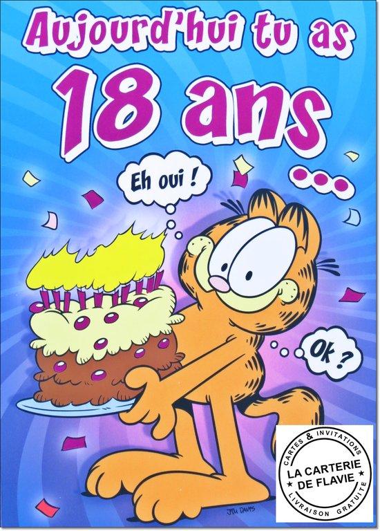 Carte 18 ans anniversaire
