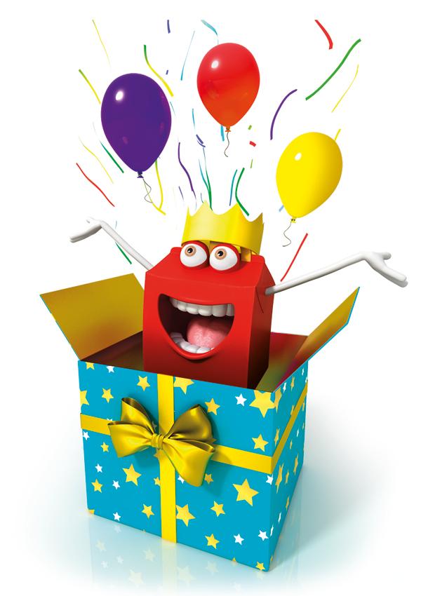 Carte invitation anniversaire mcdonald's