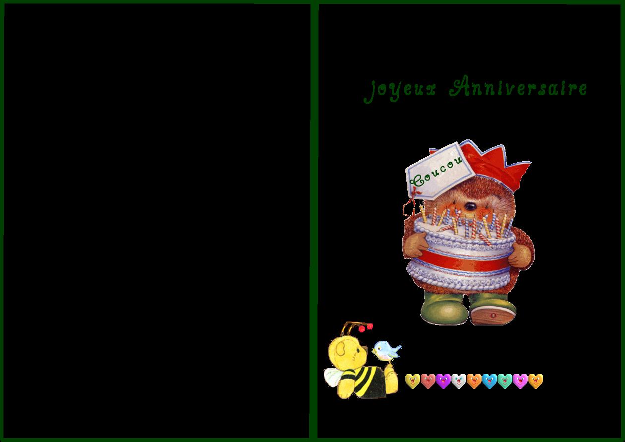 Carte anniversaire à colorier gratuite