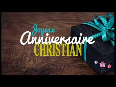 Carte joyeux anniversaire christian