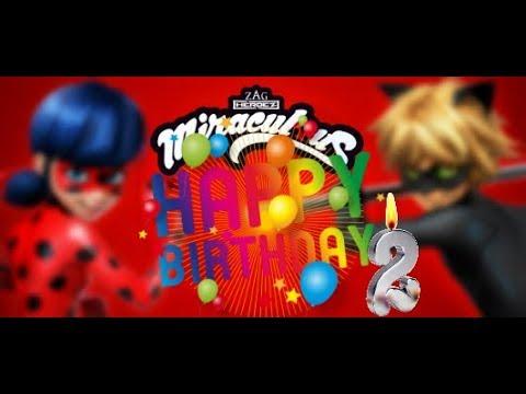 Carte joyeux anniversaire miraculous