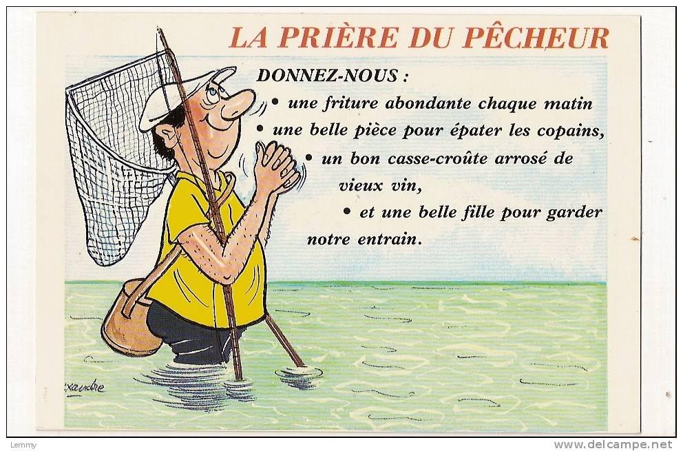 Carte humour anniversaire pêcheur
