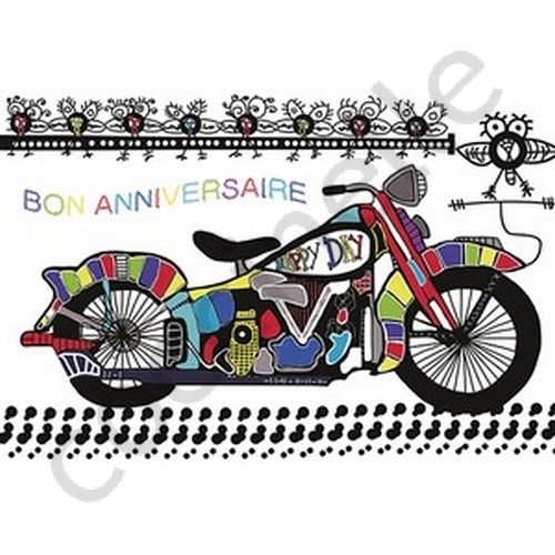 Carte anniversaire moto cross virtuelle