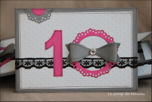 Modele carte scrapbooking anniversaire de mariage
