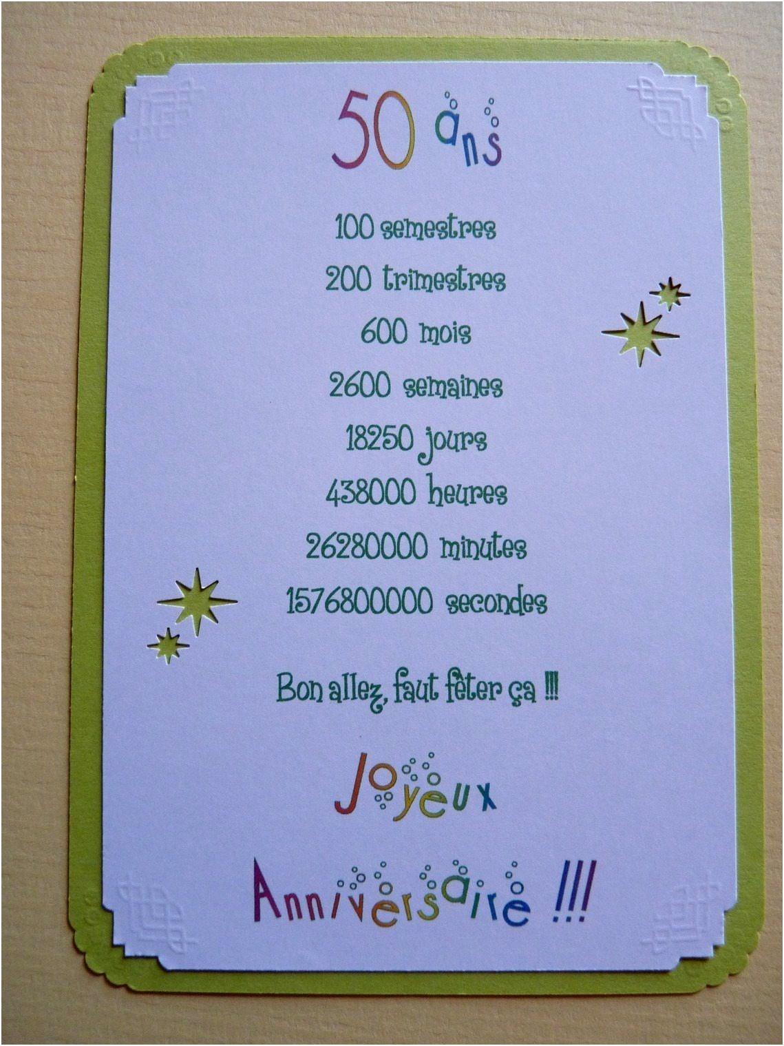Exemple De Carte D Anniversaire 50 Ans Elevagequalitetouraine