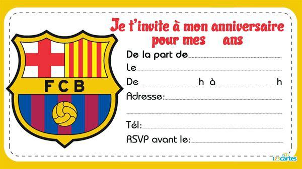 Carte anniversaire 10 ans football