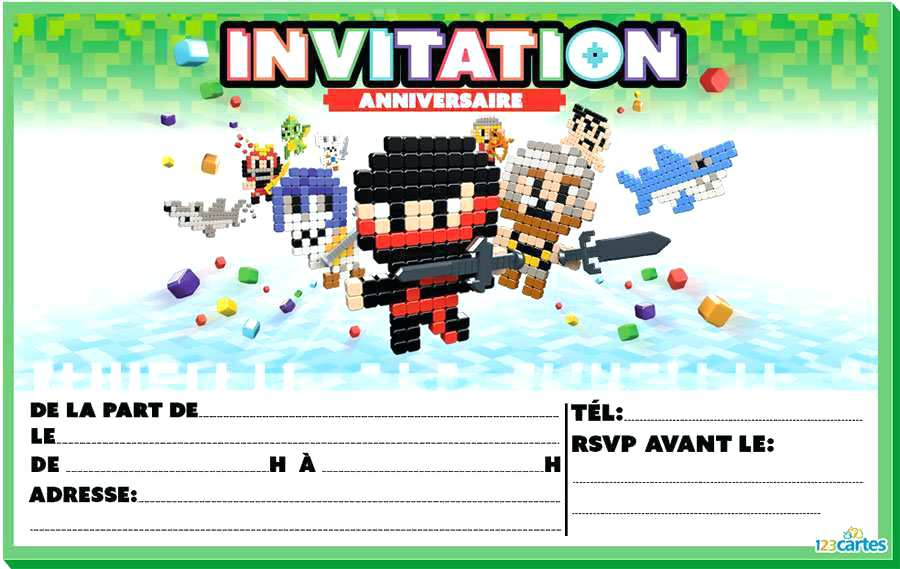 Carte invitation anniversaire power rangers a imprimer
