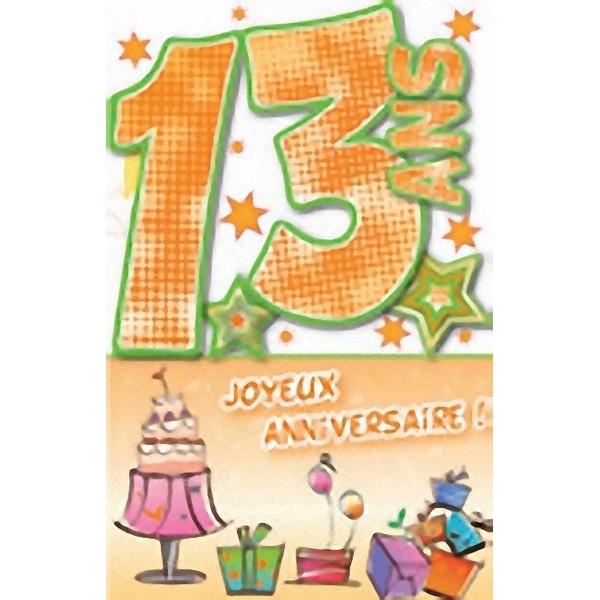 Carte anniversaire 13ans