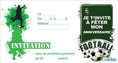 Carte Anniversaire A Imprimer Foot Elevagequalitetouraine