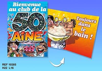 Carte anniversaire humoristique pour 50 ans
