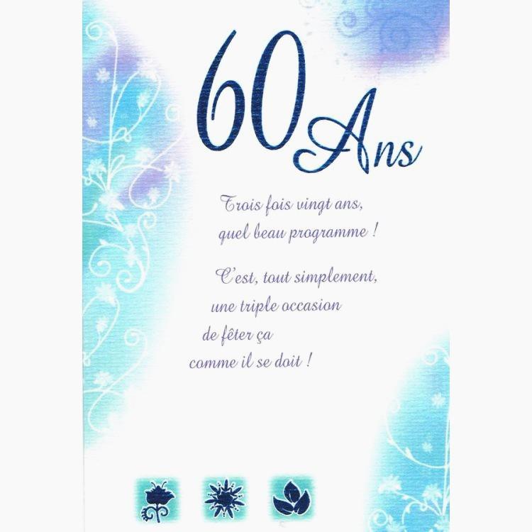 Texte pour feter un anniversaire 60 ans