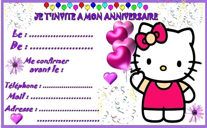 Modèle de carte d'invitation pour un anniversaire gratuit