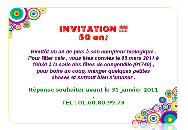 Message D Invitation Anniversaire 40 Ans