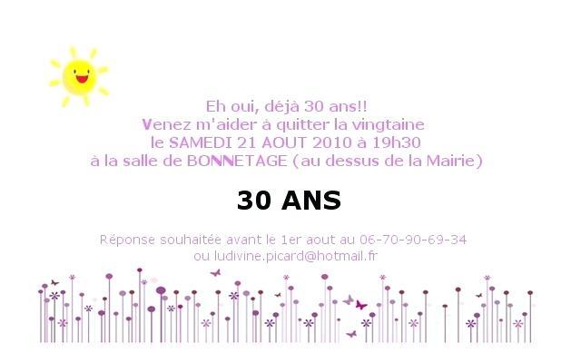 Idée texte d'invitation anniversaire
